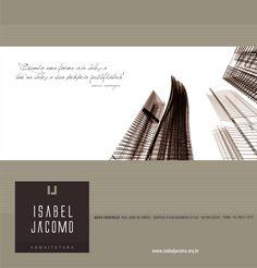 Email MKT do escritório de arquitetura Isabel Jácomo. designer: Priscila