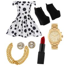 Untitled #4 by nicolehenderson518 on Polyvore featuring polyvore fashion style AX Paris Jeffrey Campbell EF Collection Ben-Amun Michael Kors