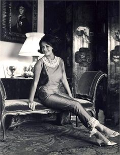 Irene Galitzine, mother of the pajama palazzo, via Italian Vogue