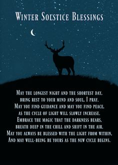 The dark night, time to leave the past behind and welcome the dawning of New adventures! We welcome the lengthening of the days, as we hibernate and appreciate the bounty that we have! Have a very blessed solstice ALL! Yule Traditions, Winter Solstice Traditions, Winter Solstice Quotes, Winter Solstice Rituals, Yule Celebration, Pagan Yule, Pagan Witch, Solstice And Equinox, Summer Solstice