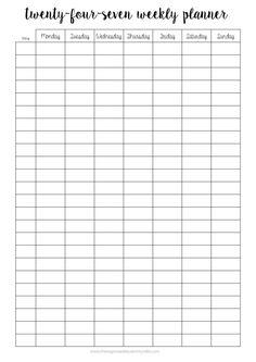 Free Printables Study Schedule TemplateFree Weekly Planner