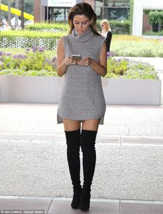 Luxe #LookforLess: How to get Maria Menounos' sweater dress and OTK boots for a steal