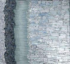 33F, by Kelley Knickerbocker, 2007, 17 in. h x 18.5 in. w; glass, mirror, smalti.