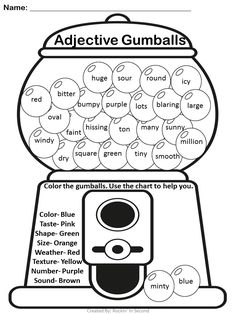 Adjectives are Sweet Activities. Who doesn't love candy? Kids love candy for…