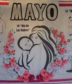 Mural del día de las madres ... Alexander Ulloa Aparicio Mather Day, Mom Day, Mothers Day Crafts, Paper Roses, Childhood Education, Diy Party, Classroom Decor, Spring, Decoration