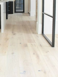 flooring decor The House of Silver Lining: The Forest Modern: Our Aged French Oak Hardwood Floors Wood Pallet Flooring, Modern Wood Floors, Rustic Wood Floors, White Wood Floors, Natural Wood Flooring, Flooring Ideas, White Oak Laminate Flooring, White Washed Floors, White Flooring