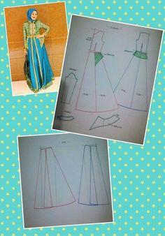 Source by muslimah Source by kayleighkaurshop muslimah Muslim Fashion, Hijab Fashion, Kaftan Pattern, Sewing Paterns, Dress Making Patterns, Muslim Dress, Cape Dress, Dress Tutorials, Pattern Cutting