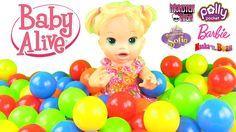 Baby Alive Renkli Top Havuzunda Sürpriz Oyuncak Bebekler Çıkarıyor