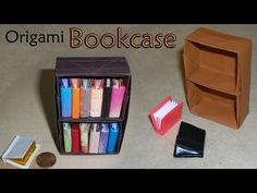 Origami Bookcase - YouTube