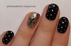 Saints Nails! ooooooomg!!!! you mean wedding nails.
