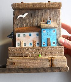 Nautical whimsical miniature driftwood