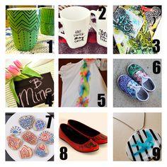 9 Sharpie Marker Crafts #DIY #tutorials
