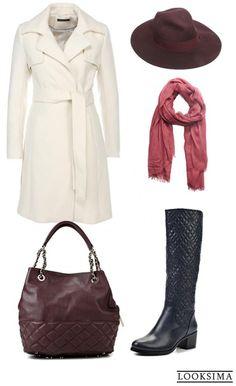 #осень #зима #бордо #синий #розовый #молочный #шляпа #сумка #пальто