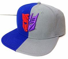 Transformers AUTOBOT VS DECEPTICON SNAPBACK HAT Blue/Gray Symbol Men/Women/Teen #Bioworld #BaseballCap