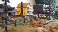 Whittemore HO Scale Train Table - Farm Layout - horses - June 2014