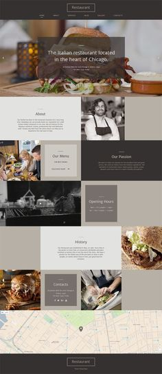 #Italian #Restaurant #Responsive #Website #Template.If you need to create an Italian restaurant, the design of this Italian cuisine website template will be of great use to you. A brown color palette makes it look cozy, elegant and appetizing, while an unusual layout makes it memorable for your customers. Apart from that, transparent banners and a neat combination of text and images invite the viewers to click, read and order, while you will be enjoying a high conversion rate. Show a…
