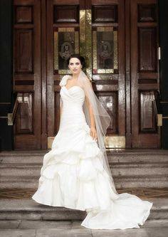 A Belleza Bridal wedding dress Traditional Wedding Dresses, Bridal Wedding Dresses, One Shoulder Wedding Dress, Fashion, Moda, Bride Dresses, Fashion Styles, Fashion Illustrations
