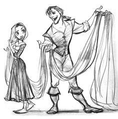Pradip Singh (Animator): Tangled Concept Art From Walt Disney Animation Studios Disney Rapunzel, Rapunzel Sketch, Art Disney, Disney Girls, Tangled Rapunzel, Disney Artists, Disney Style, Disney Magic, Disney Frozen