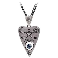Planchette Pewter Necklace by Alchemy England 1977