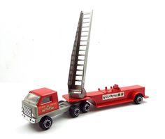 Vintage Tonka Pressed Steel Red #7 Fire Dept Truck with Movable Ladder in | eBay