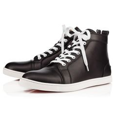 Christian Louboutin Bip Bip Men\u0027s Flat Black Leather $895. \