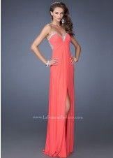 La Femme 19703 Strapless Jersey Dress