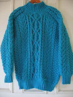 Crochet & Knit Enthusiasts: Aran (Fisherman's) Sweater Crochet