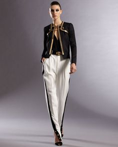 Deco Band Jacket with Chain Embroidery, Wrapped Blouse & Side-Band Pants by Gucci