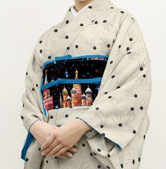 スプートニク紋様小紋着物、10配色ぐらい作りました。明日ご予約受付開始予定です。組み合わせてる半幅帯はyoutubeのこの動画見ながら作りました。パキッパキでかっこいい #kimono https://www.youtube.com/watch?v=B-JpluUqYKc…