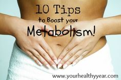 Tips to Speed up Your Metabolism! Give your metabolism a boost!