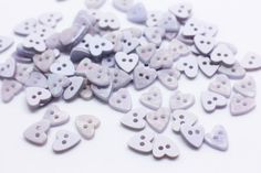 Lavender Heart Buttons Purple Heart-shape by boysenberryaccessory