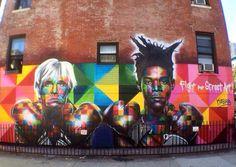 """Fight For Street Art"" done by Kobra, NYC."