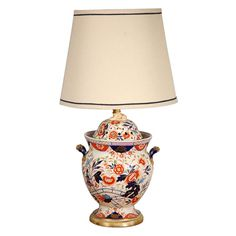 Antique English Imari Vessel as a Table Lamp http://jeffersonwest.com/shop-1/antique-english-imari-vessel-as-a-table-lamp