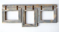 "2"" Rustic Barnwood Collage Frame 3) 8x10 Multi Opening Frame"
