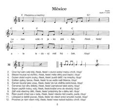 Měsíce Kids Songs, Pta, Kids And Parenting, Sheet Music, Education, School, Children Songs, Songs For Children, Nursery Songs