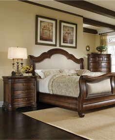 Art Furniture Coronado 172 Upholstered Bedroom Set LOVE this one Art Furniture, Rustic Bedroom Furniture Sets, Linen Bedroom, Bedroom Decor, Wooden Bedroom, Barbie Furniture, Classic Furniture, White Bedroom, Furniture Stores