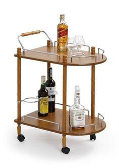 Masa minibar mobila BAR-4, L40xl60xh75 cm #homedecor #bar #cocktailbar #drink Kitchen Cart, Butler, Luxor, Bar Cart, Drinks, Furniture, Home Decor, Design, Living