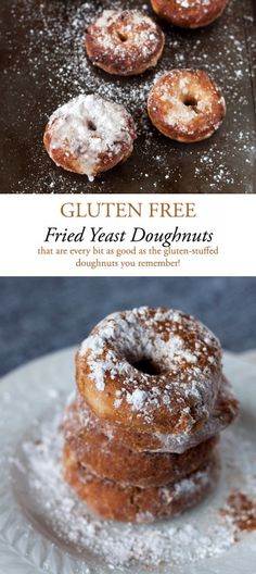 Pillow soft gluten-free fried doughnuts that are every bit as good as those gluten-filled doughnuts you remember! Gluten Free Doughnuts, Gluten Free Pancakes, Gluten Free Sweets, Gluten Free Breakfasts, Gluten Free Recipes, Gf Recipes, Gluten Free Fried Donut Recipe, Recipies, Healthy Recipes
