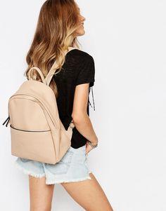 Image 3 ofGlamorous Minimal Backpack in Taupe