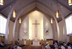 OK — Northminster Presbyterian Church Renovation Sacred Architecture, Religious Architecture, Church Architecture, Amazing Architecture, Architecture Details, Church Interior Design, Church Stage Design, Altar Design, Temple Design