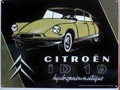 Plaque Metal Publicitaire Vintage Auto Rétro Citroën DS ID 19 40 X 30 CM | eBay