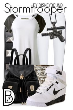 """""""Stormtrooper"""" by leslieakay ❤ liked on Polyvore featuring Valentino, Alice + Olivia, Enza Costa, GUESS, Forever New, NIKE and adidas"""