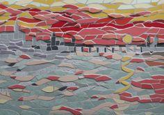 Claude Monet inspired mosaic
