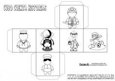 cubo para contar historias PROFESIONES 1 IMAGEN_1 Story Cubes, Spanish Bulletin Boards, Spanish Classroom, English Class, Storytelling, Board Games, Kindergarten, Teacher, Education