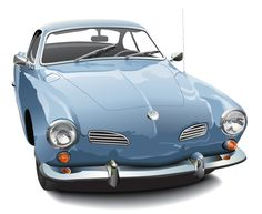 Blue Karmann Ghia - yes please.