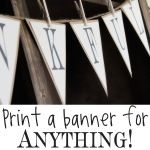 Daily Free Printable: Black and White Alphabet Bunting Banner (by Shanty 2 Chic) | Mrs. Greene - crafts, food, fashion, life