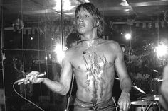 Iggy Pop and the Stooges on stage at Whiskey A Go Go in Los Angeles,