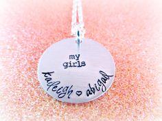 Custom Name Necklace  My Girls My Boys by EverythingPrettyShop
