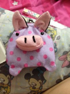 Pig coin purse Diy. Inspired by Misala on Etsy