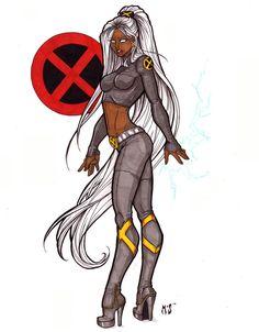 X-men: Storm (aka Ororo Munroe) Artwork by Crimsonsea